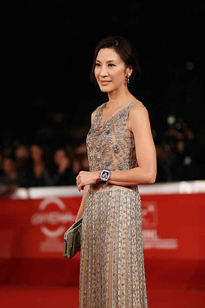 Michelle Yeoh at the Rome Film Festival wearing Richard Mille