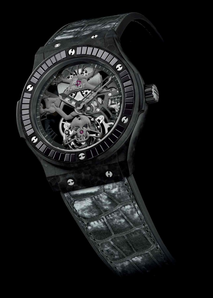 Classic Fusion Tourbillon Skull watch, Hublot