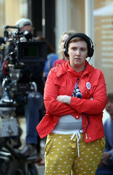 Lena Dunham filming in Brooklyn | Image: GETTY