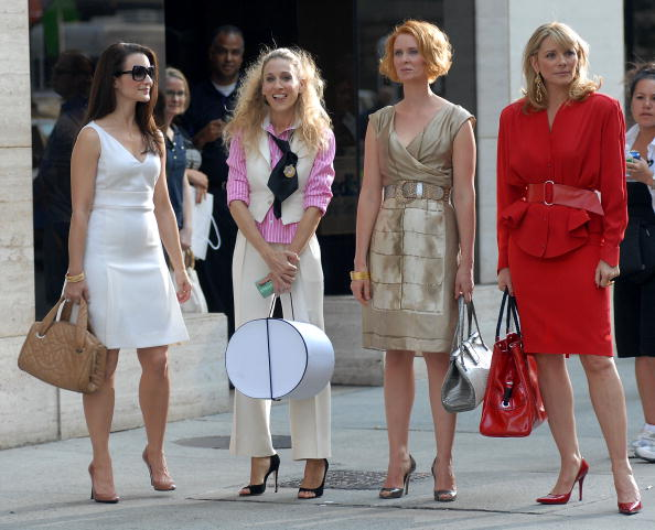 The Ladies of 'Sex and the City' on set in Park Avenue, 2007 | Image: GETTY