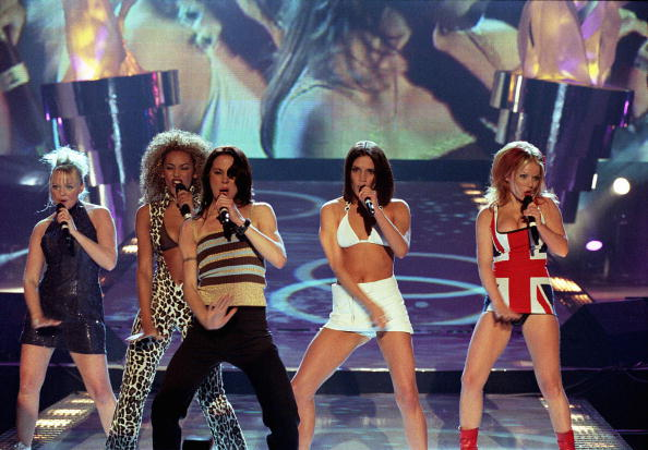 UNITED KINGDOM - FEBRUARY 24: BRIT AWARDS, EARLS COURT Photo of The Spice Girls, Spice Girls (Photo by JMEnternational/Redferns)