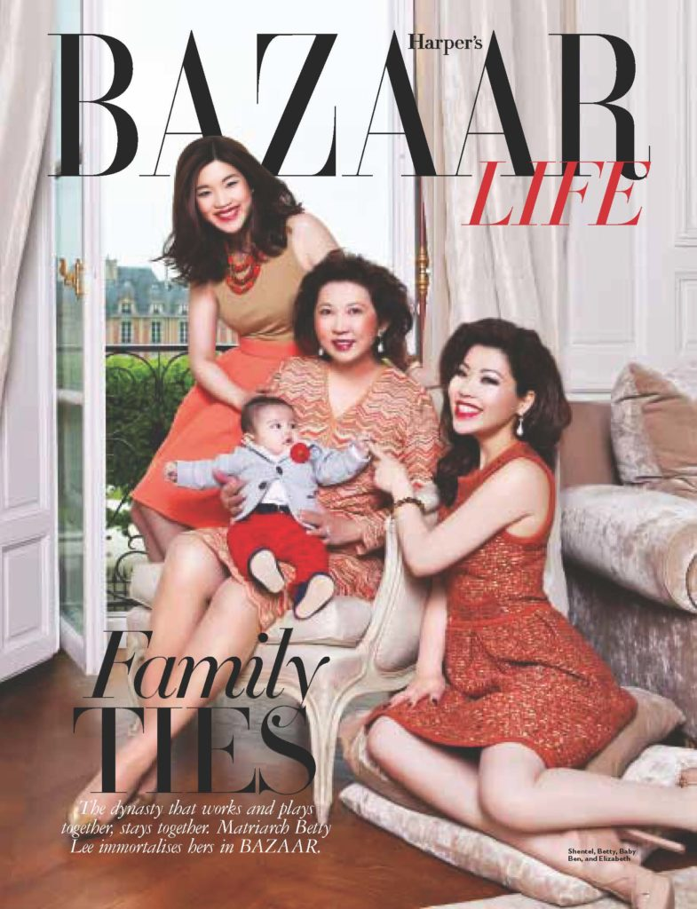 The Dream 'Lee' Team, Elizabeth Lee-Yong, Betty Lee and Shentel Lee remains iconically within BAZAAR's The Fashionable Life pages