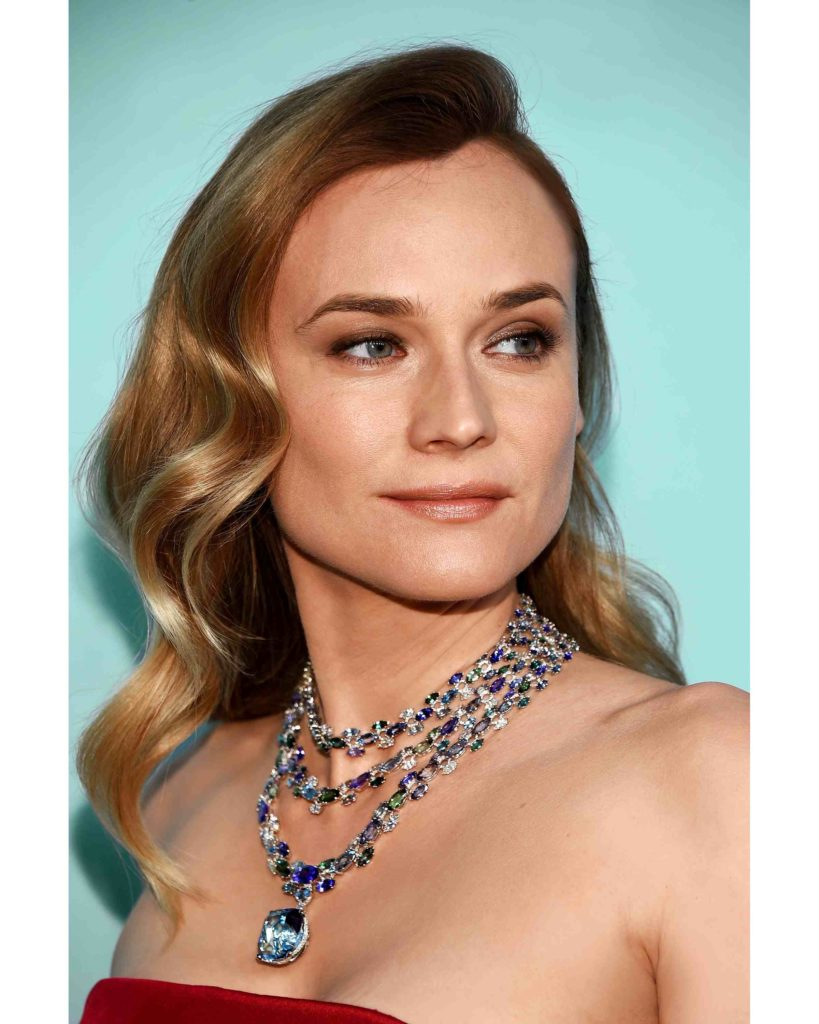 Diane Kruger in jewels from the 2016 Blue Book collection at the premiere of the Tiffany & Co. Blue Book