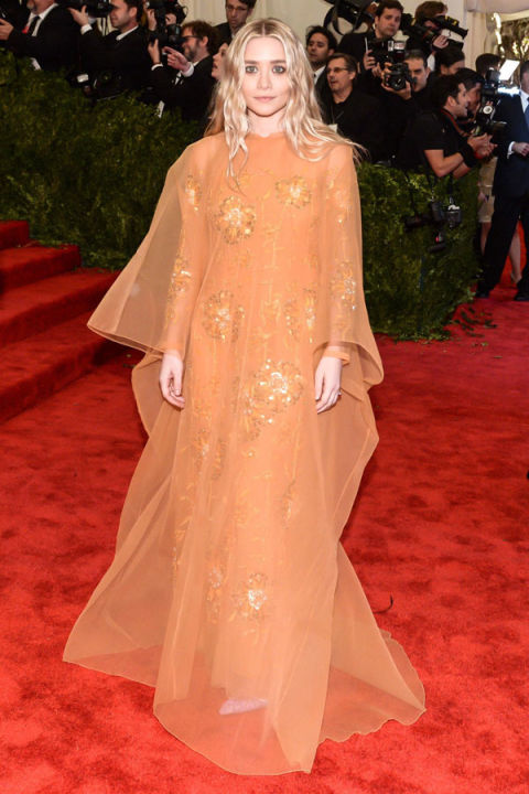 Ashley Olsen in vintage Dior, Met Gala, 2013 | Image: Getty