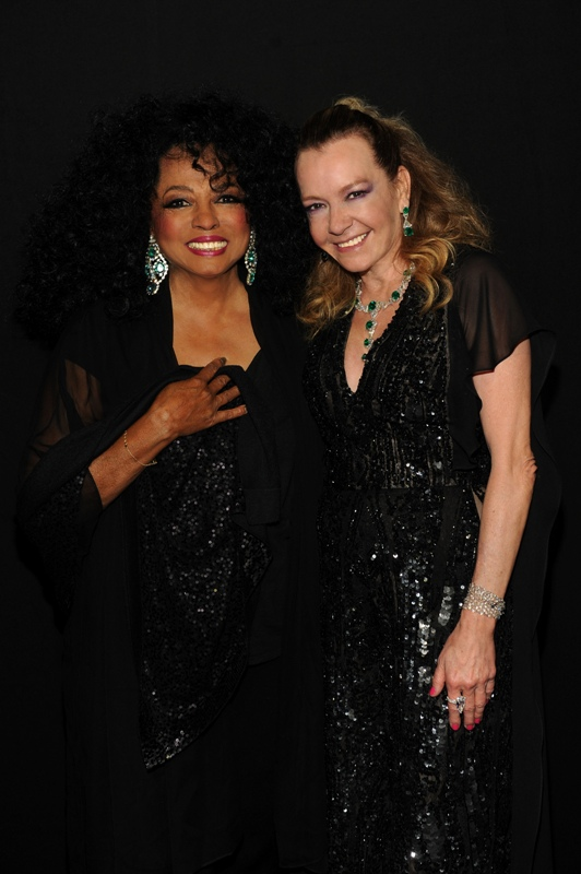 Diana Ross and Caroline Scheufele