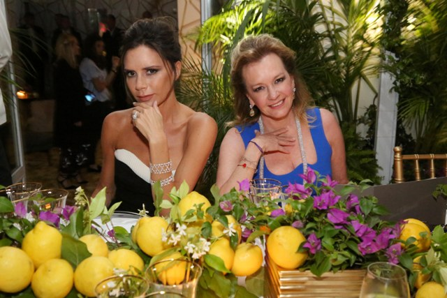 Victoria Beckham and Caroline Scheufele in Chopard