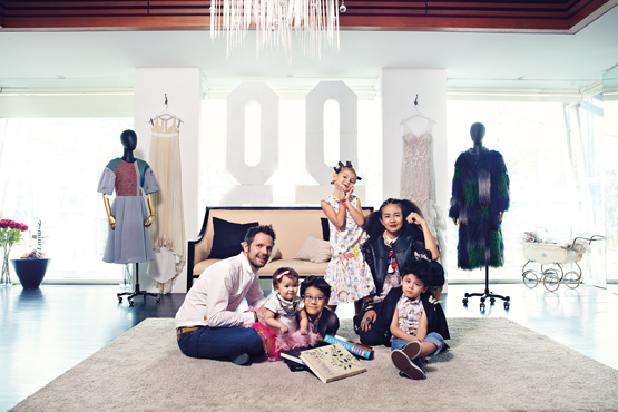 The Looi-Luebbert clan—a force to reckon with. From left to right: Dirk Luebbert, Myla, Max, Maya, Melinda Looi, and Mika