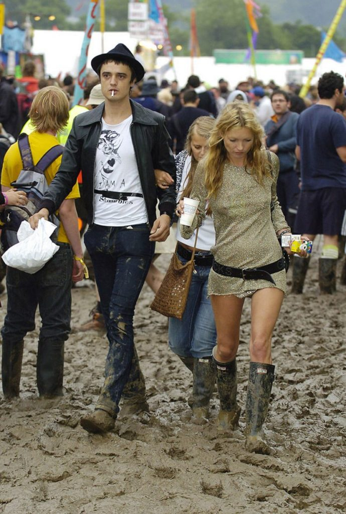 Pete Doherty and Kate Moss at Glastonbury