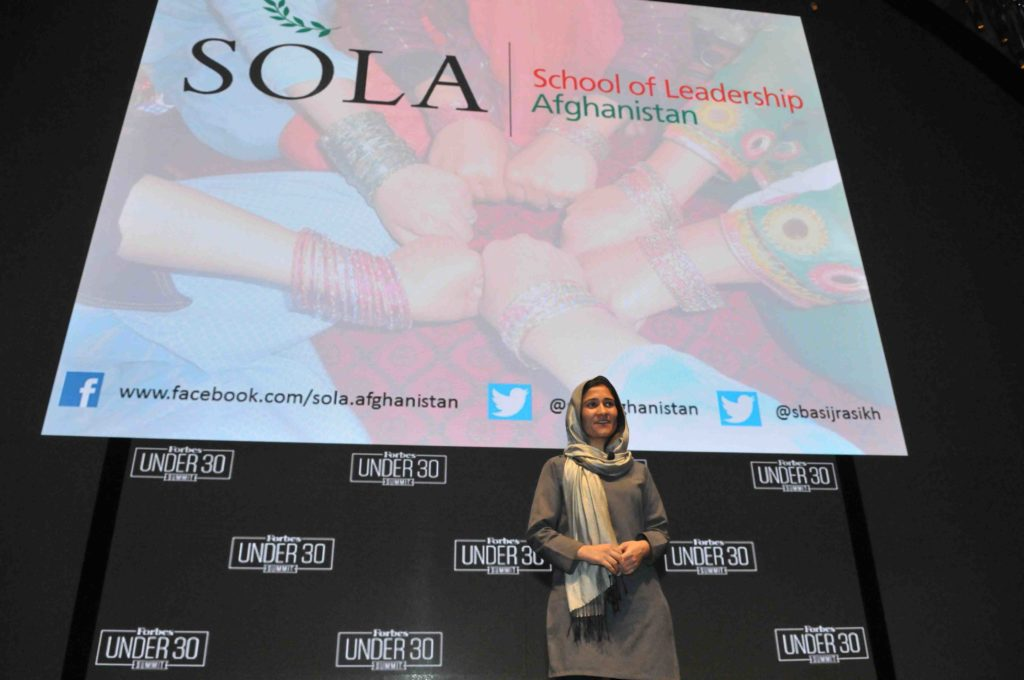 Shabana Basij-Rasikh, Co-founder of SOLA and Education Activist from Afghanistan, shares her story of beating the odds and her mission to helping young girls get access to education