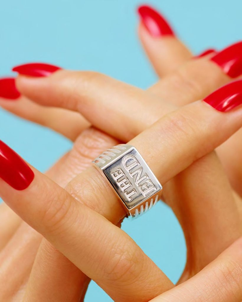 The End Pinky Ring 'Endless?' Collection Capsule with Toiletpaper Magazine   Instagram @beabongiasca