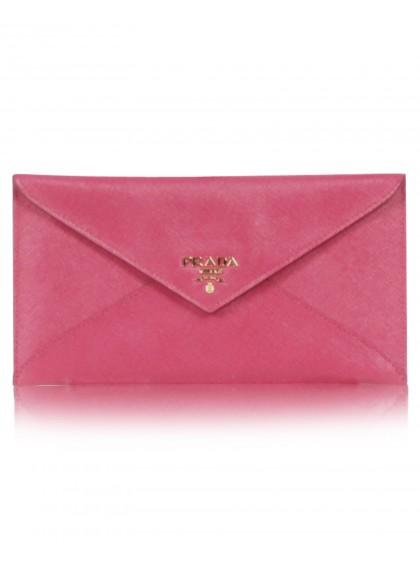 Prada, Saffiano Metal Envelope Wallet