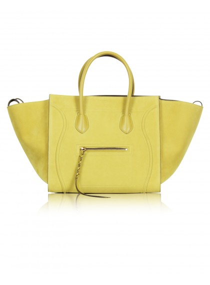 Celine, Mustard Yellow 'Phantom' Medium Chartreuse Tote Bag RM 7,321