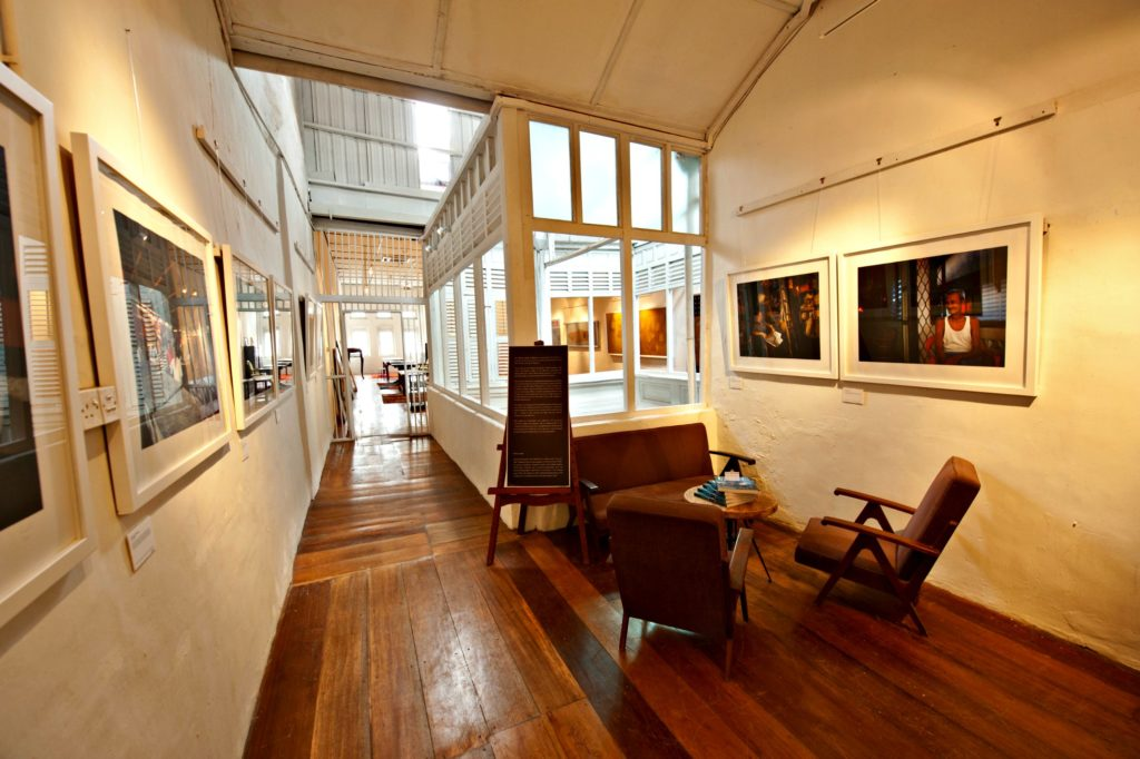 The spacious art gallery of China House often plays hosts to exhibitions