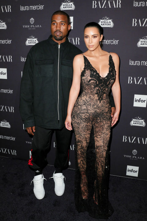 Kim and Kanye West in Givenchy | Image: BFA