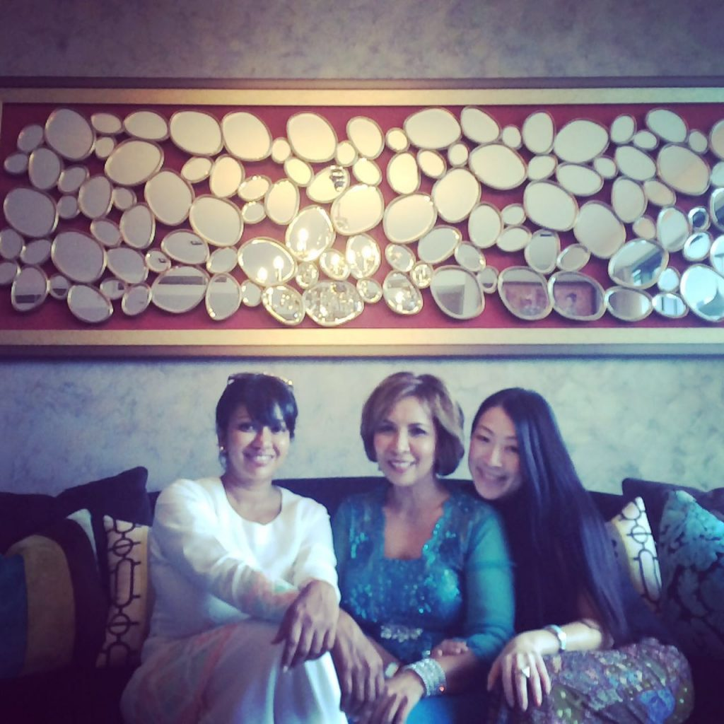 Sunitha with Reena Tan and Fazilla Filippi, Hari Raya 2016 | Image Courtesy of Sunitha Thayaparan