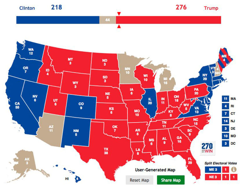 How and where Trump managed to beat Hilary Clinton