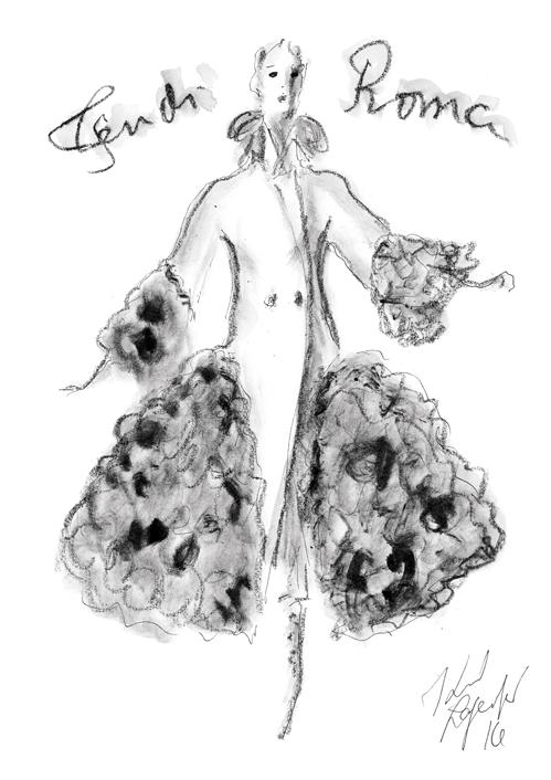 A Fendi haute fourure sketch