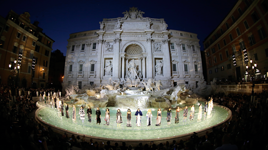 'Legends and Fairytales' at the Trevi fountain