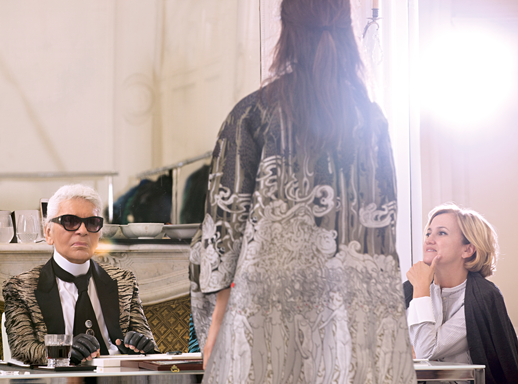 Karl Lagerfeld and Silvia Venturini Fendi, the two icons shaping Fendi's legacy today