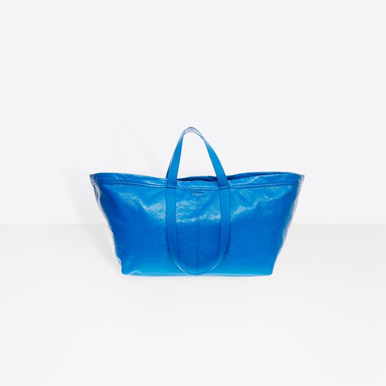ef9570b9be Balenciaga s New Tote Takes Inspiration From Ikea s Shopper Bag ...