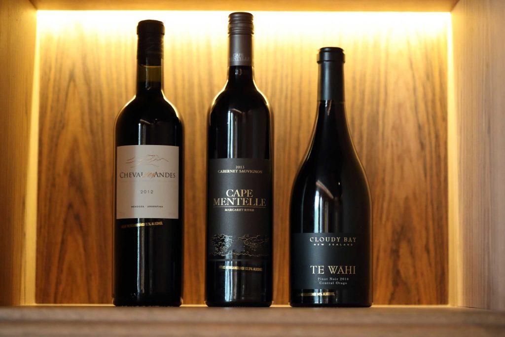 Malbec, Cabernet Sauvignon, and Petit Verdot; Cape Mentelle, Cabernet Sauvignon 2013; Cloudy Bay Te Wahi 2014, Pinot Noir