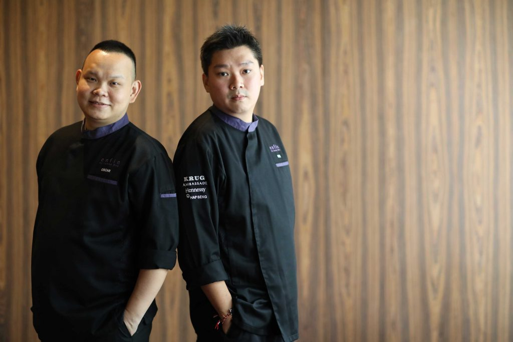 Chef Oscar Wo and Chef E.H. Poh