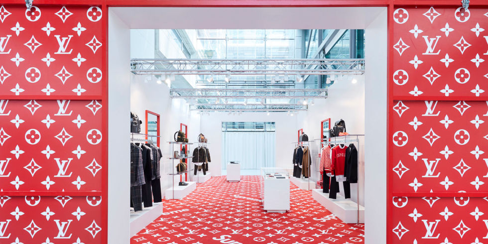 Louis Vuitton has opened a new pop-up store dedicated to its Supreme  collaboration. The space offers ready-to-wear f9f292c31