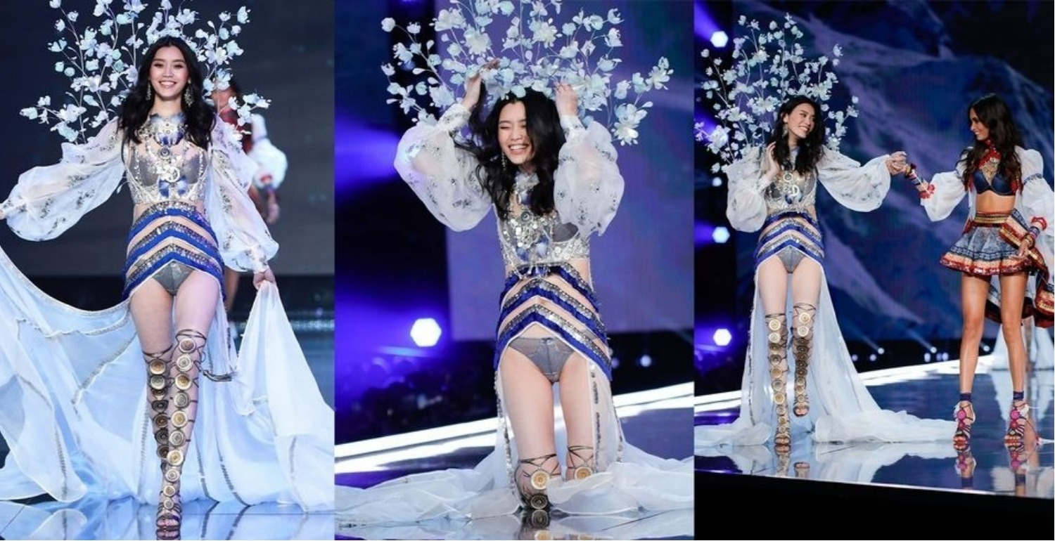 Victoria's Secret Model Ming Xi Graciously Responds To Her Runway Fall