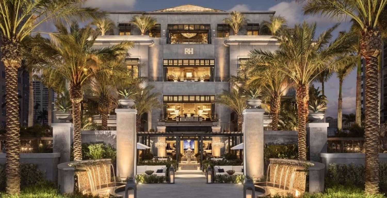 Restoration Hardware Just Opened A Mansion in Palm Beach and You're Going To Want To Move In