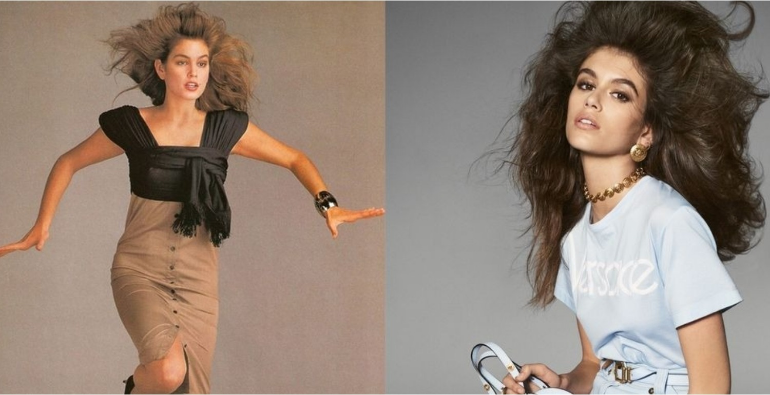 Cindy Crawford and Kaia Gerber Look Identical in Their Versace Campaigns, 30 Years Apart