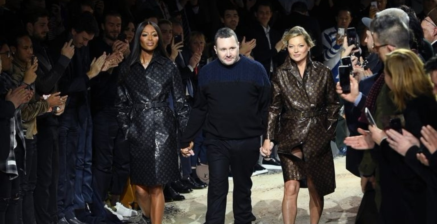 Naomi and Kate Close Out the Louis Vuitton Menswear Show