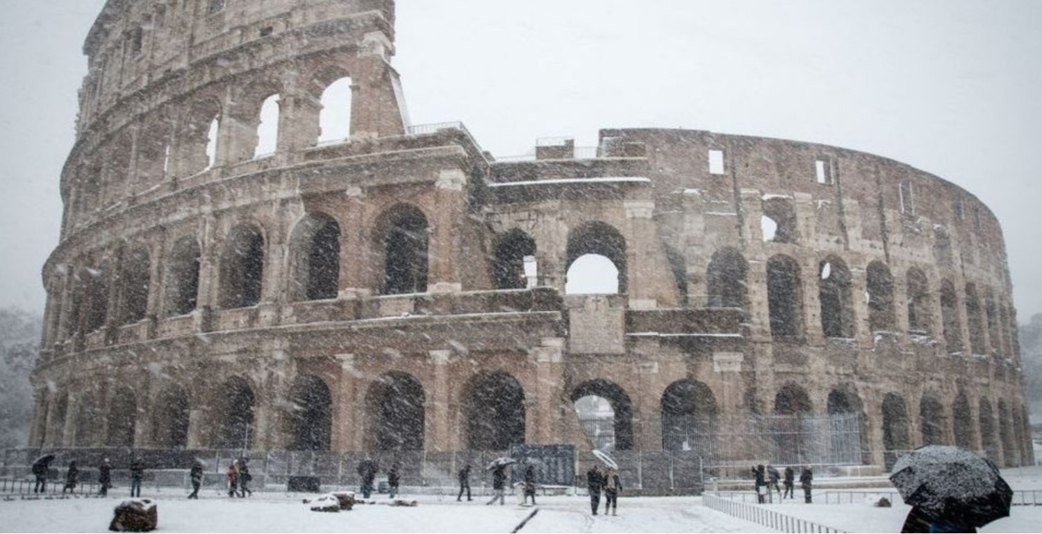 Rome Has Experienced Its First Snow In Six Years And The City Is Even More Beautiful