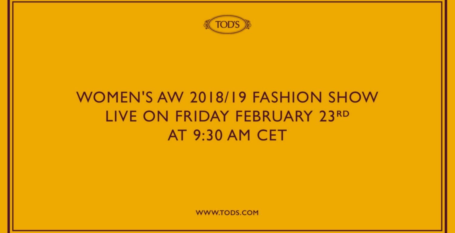 Catch The Tod's Fall Winter 2018 Show In Milan Right Here