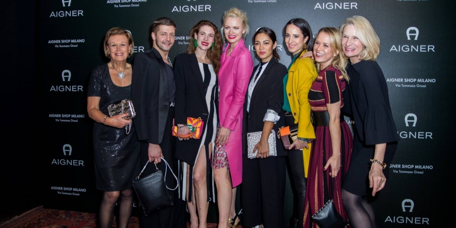 The Celebs That Attended Aigner's Store Opening Party in Milan