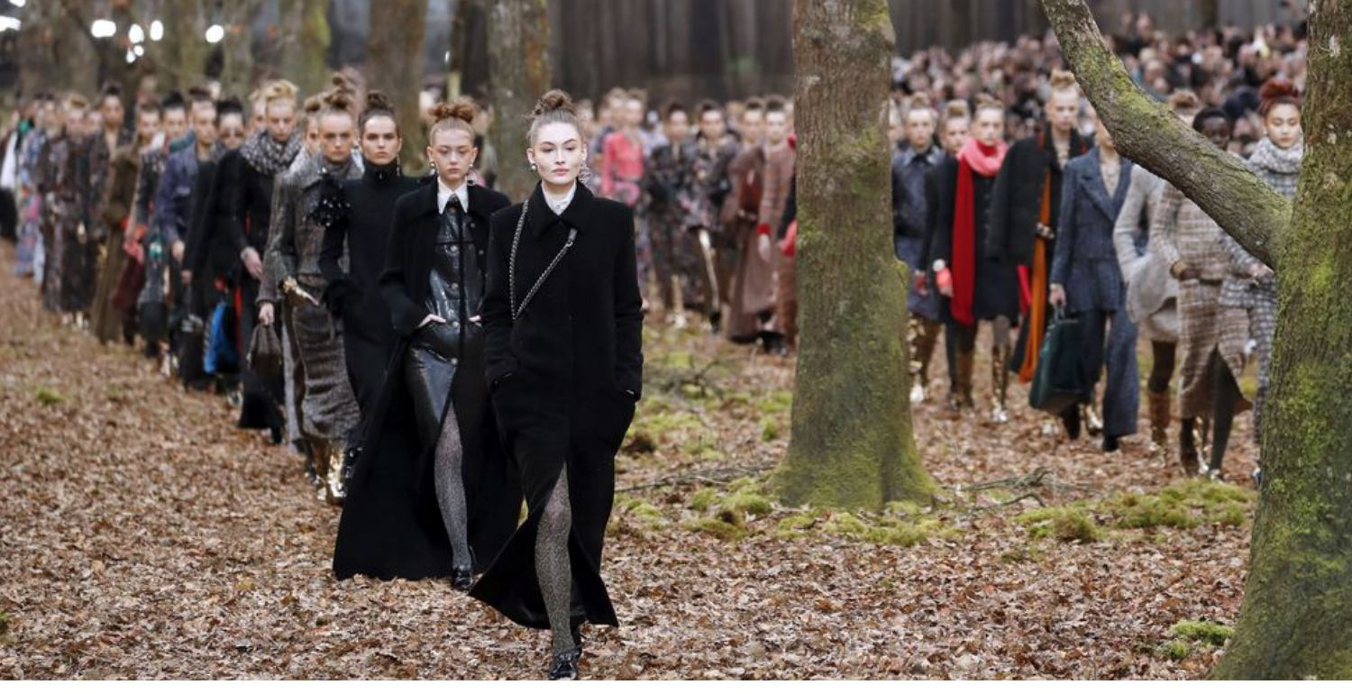 Chanel Sent Models Through A Forest For Its Fall 2018 Show