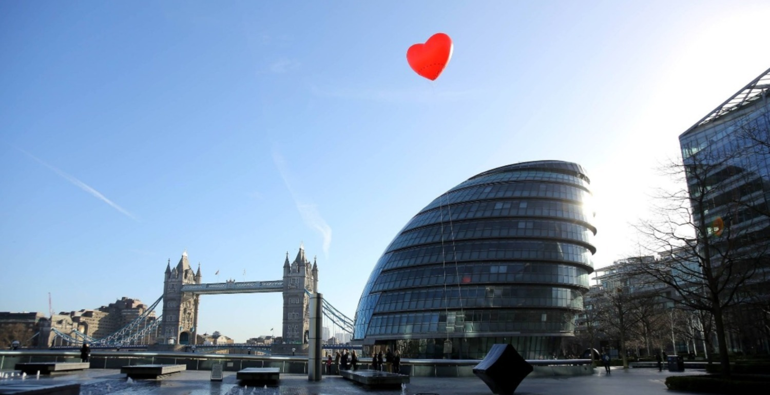 Find Out Why Chubby Hearts Were Floating All Around London