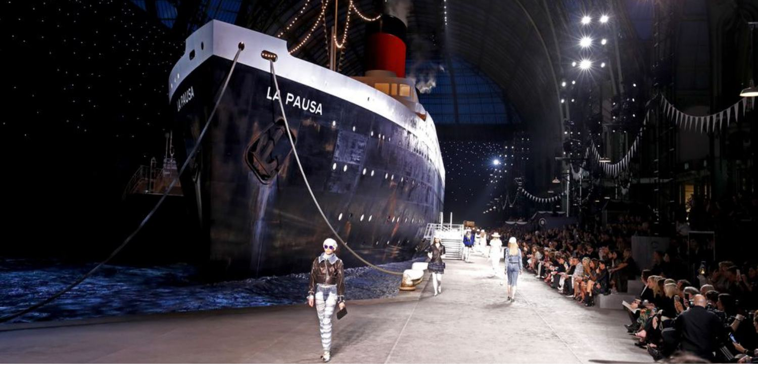 Chanel Had An Actual Cruise Ship On The Runway of Its Cruise 2019 Show