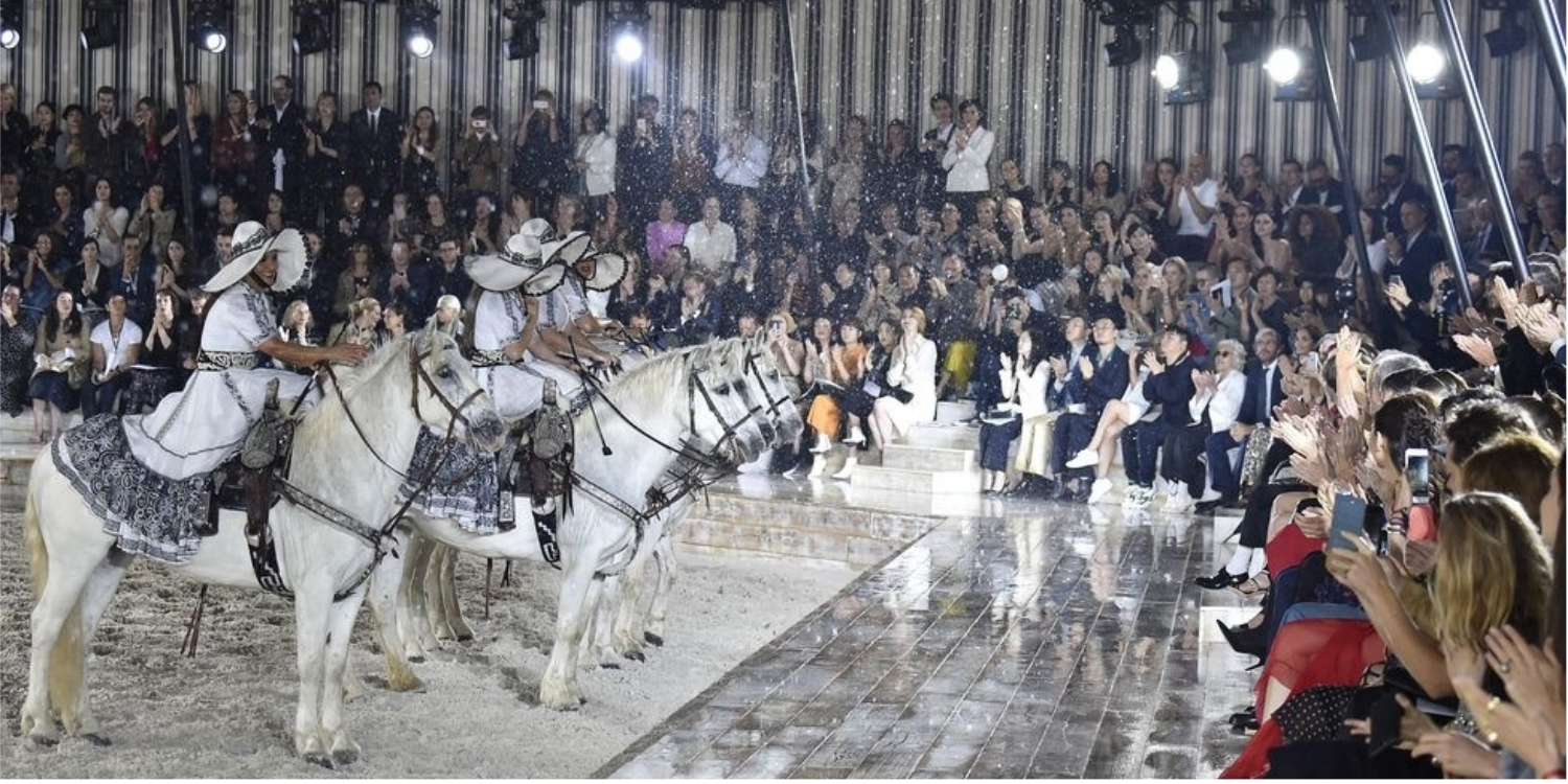 Horses Walked the Runway Alongside Models at Dior's Cruise 2019 Show in Paris