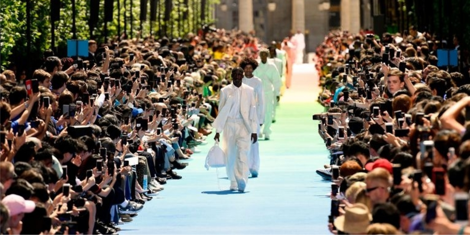Virgil Abloh Stages His First Louis Vuitton Show in Paris