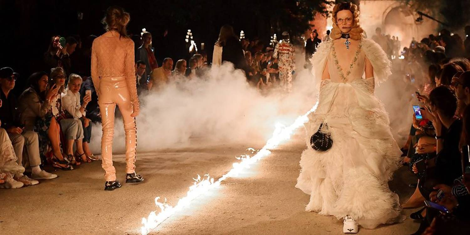 Gucci's Cruise 2019 Runway Was On Fire—Literally