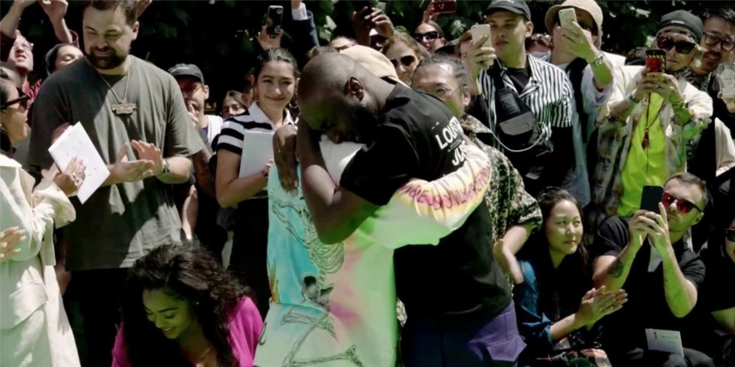 Virgil Abloh and Kanye West Cried Together At The End of Abloh's First Louis Vuitton Men's Show