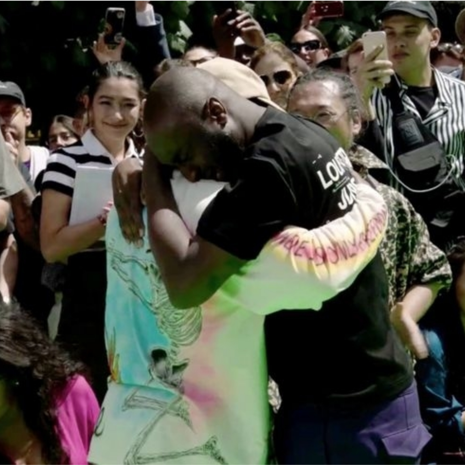 bbebda075c77 Virgil Abloh and Kanye West Cried Together At The End of Abloh s First  Louis Vuitton Men s Show - Harper s Bazaar Malaysia