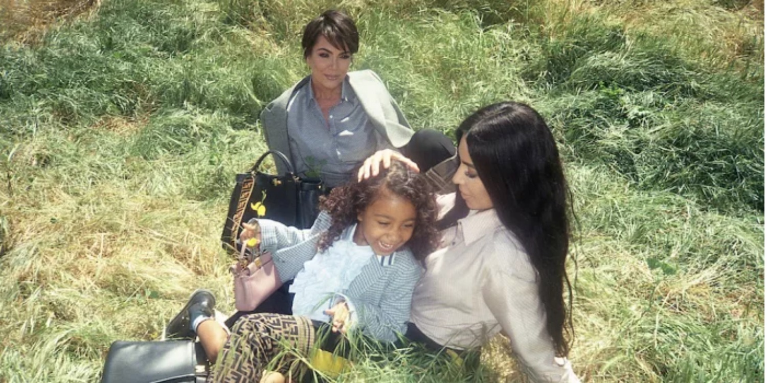 Kim Kardashian, North West, and Kris Jenner Star in New Fendi Campaign