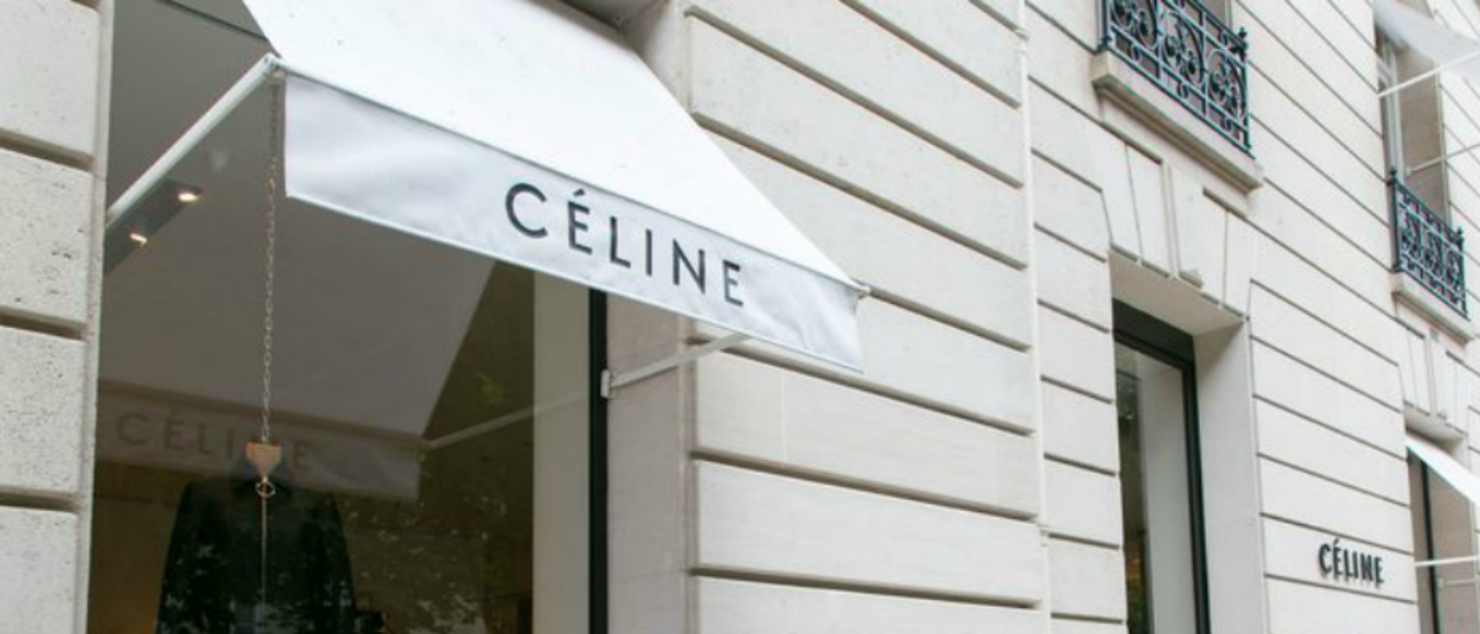 Céline has debuted a new logo under Hedi Slimane