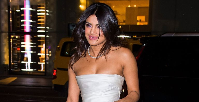 Priyanka Chopra Wears Strapless White Gown To Her Bridal Shower