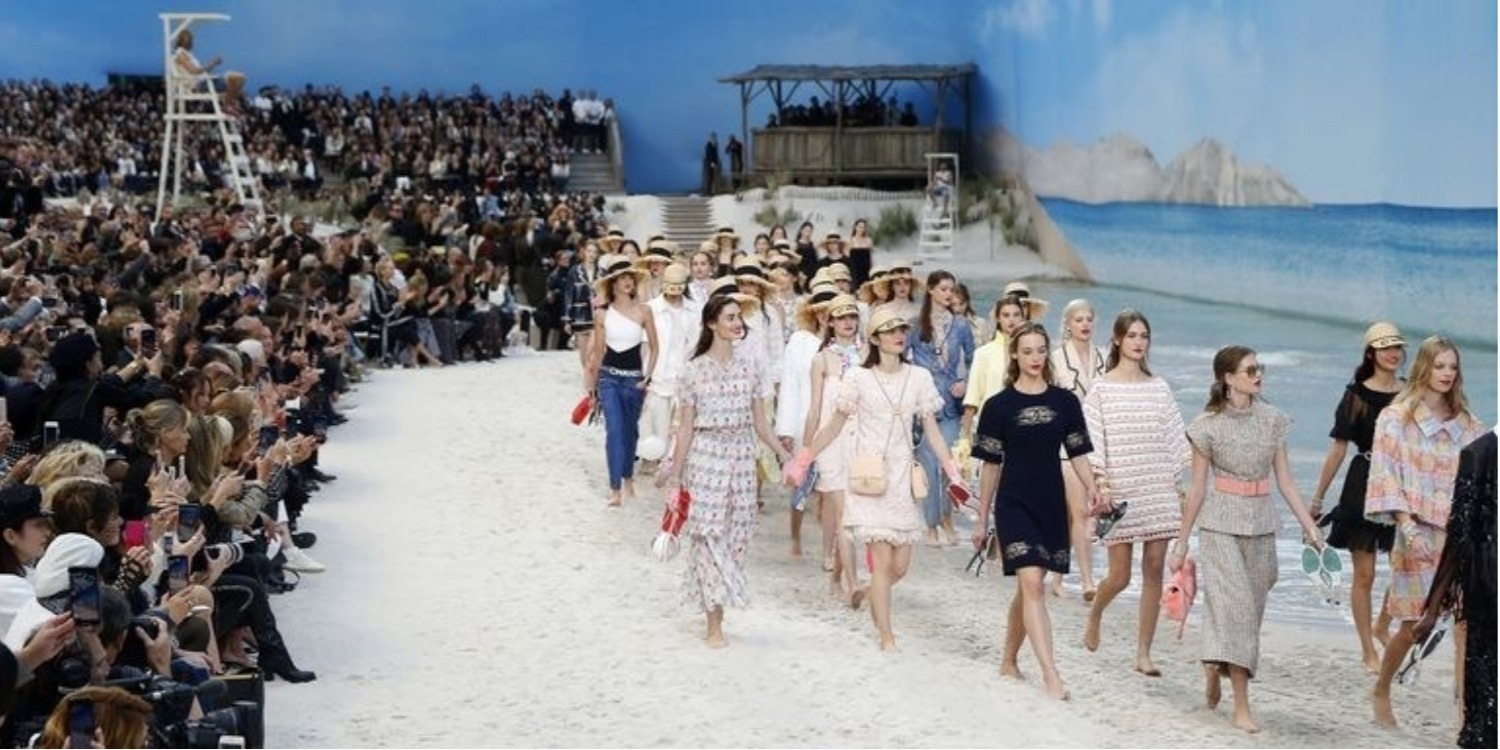 Chanel Turned Its Runway Into a Beach—Complete With an Ocean and Lifeguards On Duty
