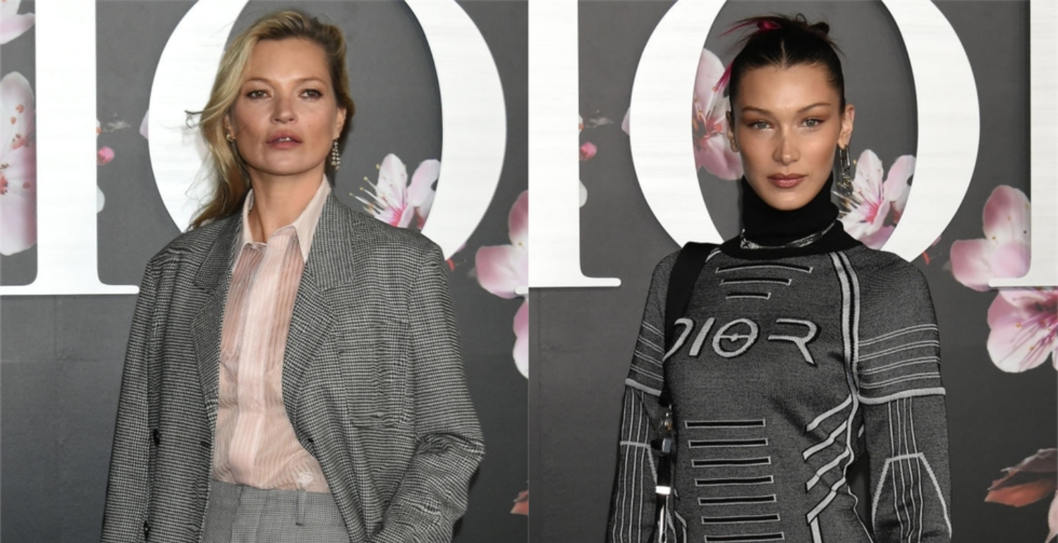 Kate Moss And Bella Hadid Borrow From The Boys At Dior cruise show