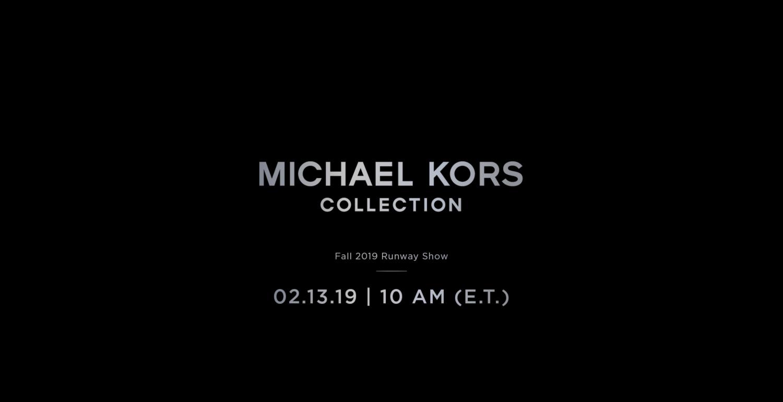 Livestream: Michael Kors Collection Autumn Winter 2019 Show