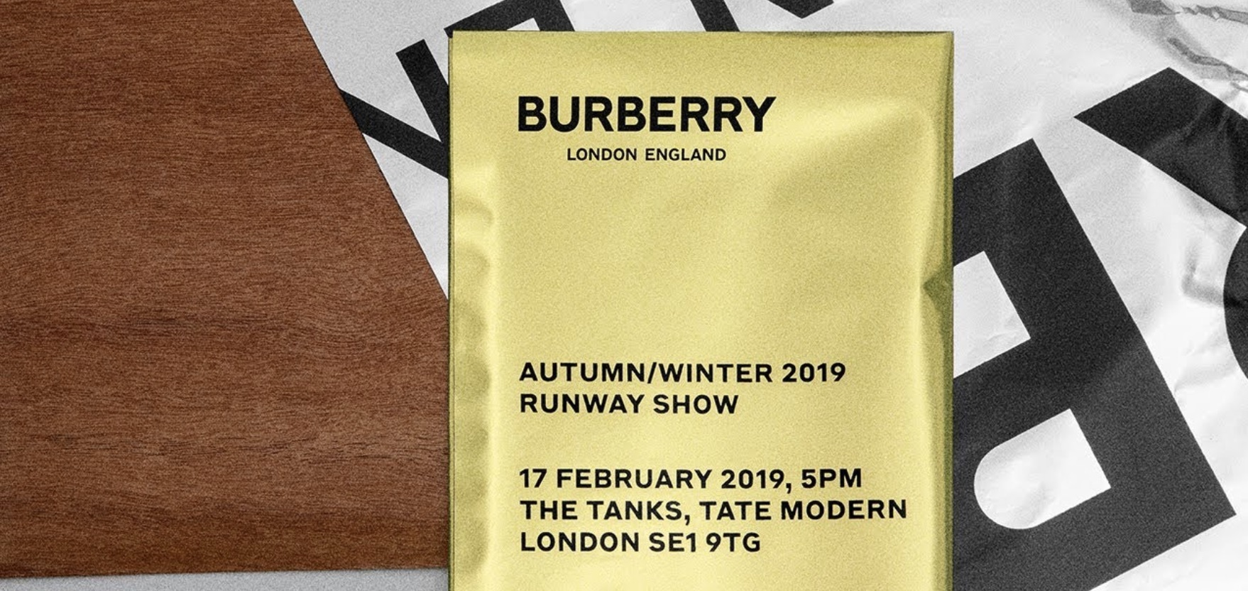 Watch The Burberry Fall/Winter 19 Show Live!