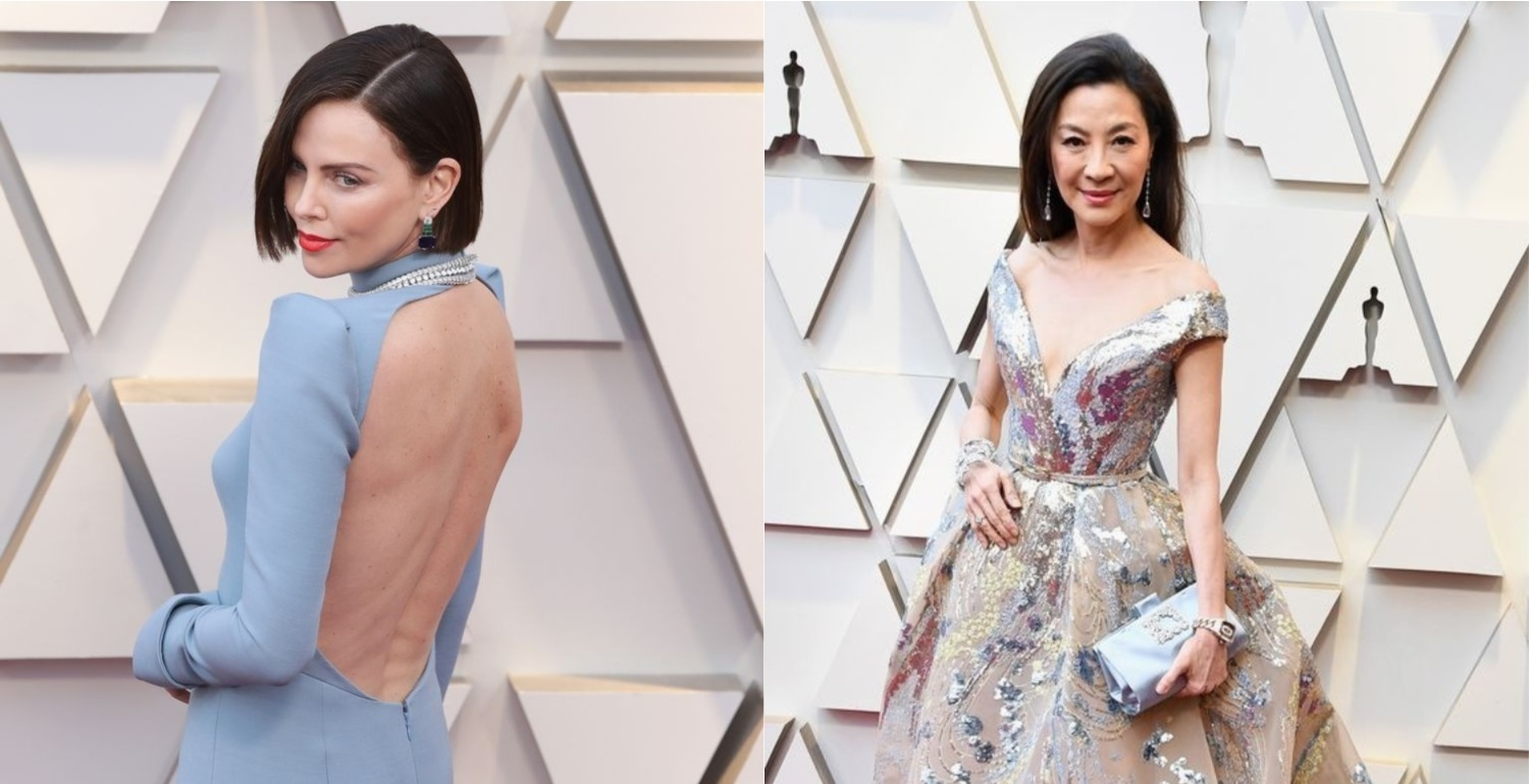Get The Look: Charlize Theron and Michelle Yeoh at The Oscars 2019